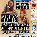 Shabba Ranks & Alison Hinds in Bermuda